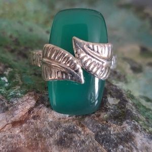 Jewelry - Green Onyx Sterling Silver Ring